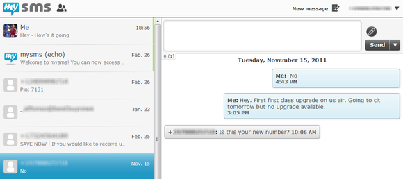 MySms strumento per invio gratuito sms
