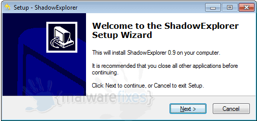 Utilizzare ShadowExplorer per recuperare file o Restore Encrypted Virus dati