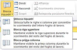 Excel_blocca_riquadri