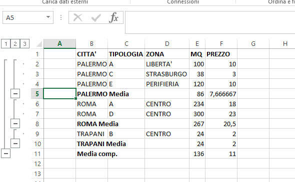 Excel_subtotali